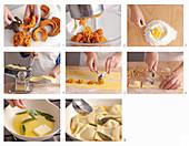 Tortelli di zucca (Nudeltaschen mit Kürbisfüllung, Italien) zubereiten