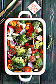 Gemüse mit Rosmarin zum Überbacken