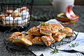 Puff pastries with an anchovy filling