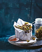 Brussels sprout chips with chilli