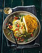 Tandoori roasted cauliflower with salsa