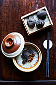 Reis mit schwarzem Trüffel (Restaurant 'Fu He Hui', Shanghai)