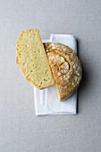 Crispy cornbread, halved