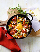 Spanish chorizo medley with egg