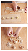 Cappellacci vernantini (ravioli with chestnut flour and potato salsiccia filling, Italy)