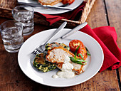 Pork Chops with Potato Fritters