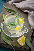 Herbal sage and lemon tea