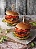 Veggie burgers with tofu patties from North-Rhine Westphalia