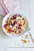 Waldorf salad with parsnips and nuts