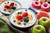 Breakfast Bowl mit Joghurt und Beeren