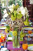 Ungewöhnlicher Amaryllis - Strauß mit Hyazinthen