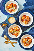 Orange-spiced golden syrup dumplings