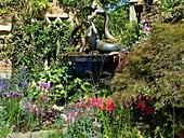 Wasserspiel Meerjungfrau im Garten