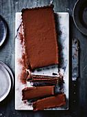 Chocolate licorice tart