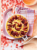 Plum baked custard