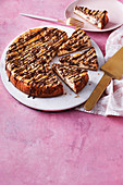 Giant cookie cheesecake