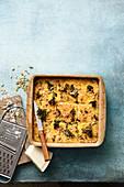 Baked polenta with kale