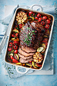 One-pan spanish roast beef