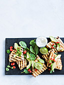 Quick chipotle chicken quesadillas