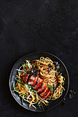 Char siu duck with noodles (China)