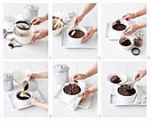 Baking mocha self-saucing pudding (England)