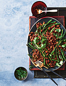 Spicy beans with mince