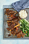 Asian orange and soy braised beef ribs