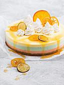 Citrus layered cheesecake