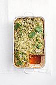 Truthahn-Pilz-Lasagne in Backform