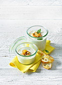 Yoghurt soup with charentais melon and honey