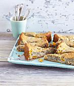 Peach cake with chia seeds