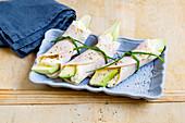 Turkey and avocado rolls