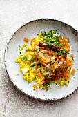 Ossobuco on saffron risotto