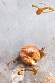 Doughnut gefüllt mit Baileys- Vanillepudding