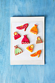 Colourful fashion cookies