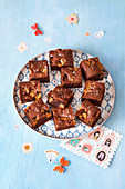 Salted caramel and chocolate brownies