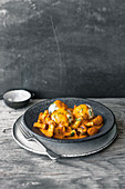 Egg goulash with ricotta dumplings