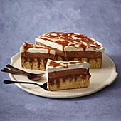 Nougat poke cake