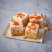 Sea buckthorn and poppyseed poke cake