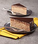 Classic Prinzregententorte (Bavarian chocolate sponge cake)