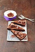 Baseless chocolate cake
