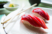 Thunfisch Nigiri close up
