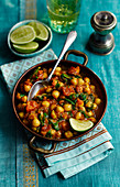 Saag Channa (Indian chickpeas and spinach spiced with garam masala)