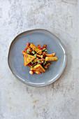 Shimeji ragout with rosemary polenta