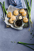 Savoury pork mooncakes