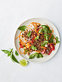 Minced beef noodle salad (Thailand)