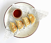 Gyoza with a vegetable filling