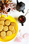 Vanilla Bean Wafers with Rose Tea