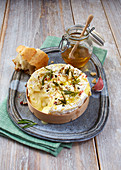 Baked Camembert with rosemary and honey