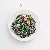 Creamy spinach with chestnuts
